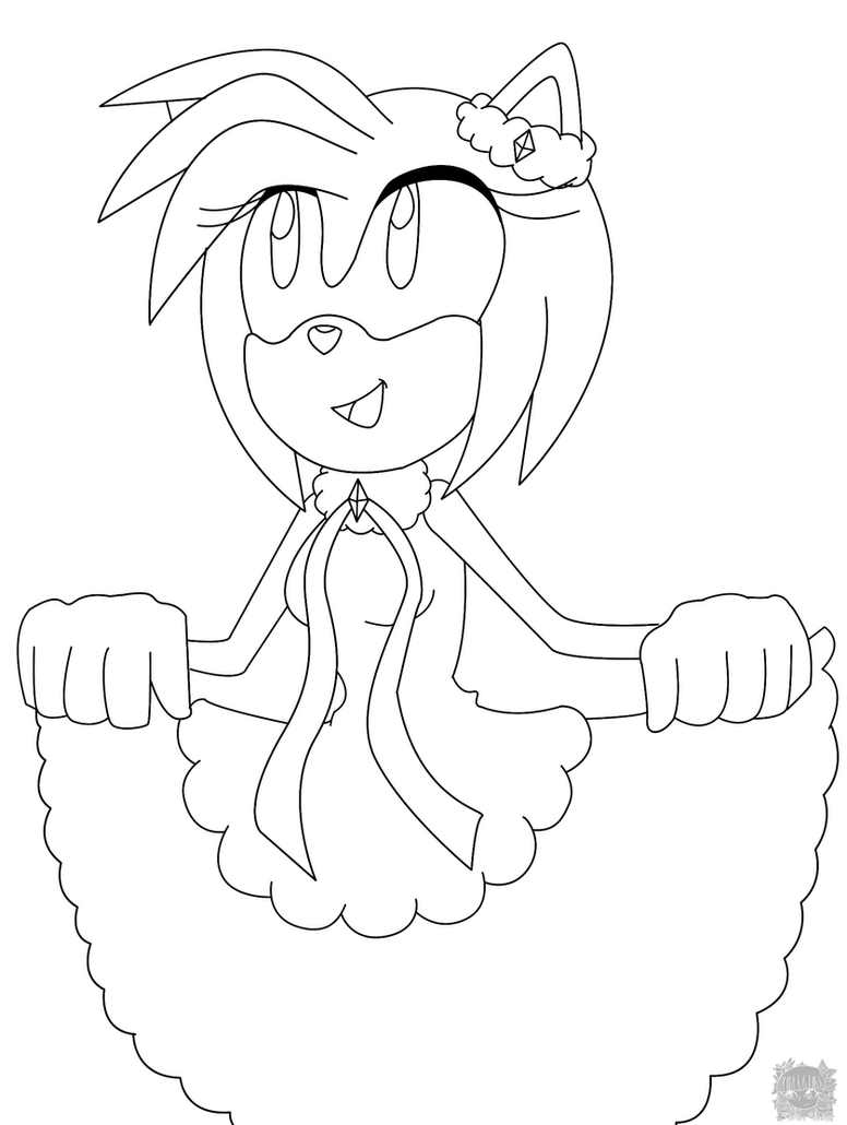 how to draw amy rose
