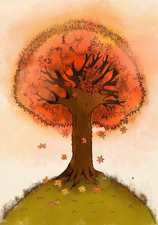 Autumn Maple Tree by aerith0808 on DeviantArt