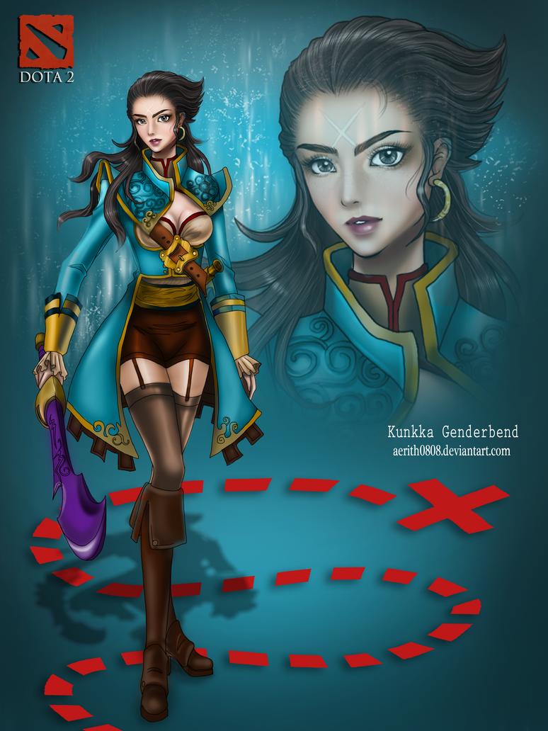 DOTA 2 Genderbend: Kunkka by aerith0808