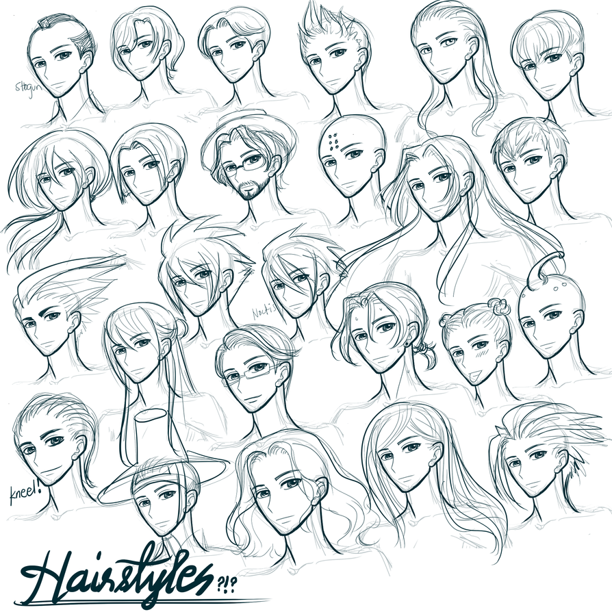 Hairstyles?!? by aerith0808