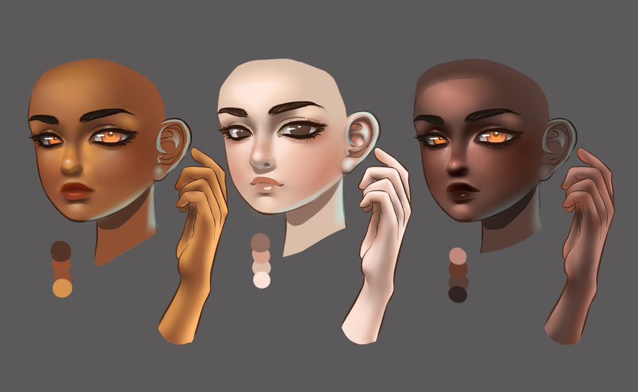 Skin tone Study by aerith0808
