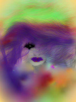 rainbow  hair  in summer by rocheleheart10