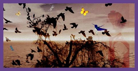 flying birds by rocheleheart10