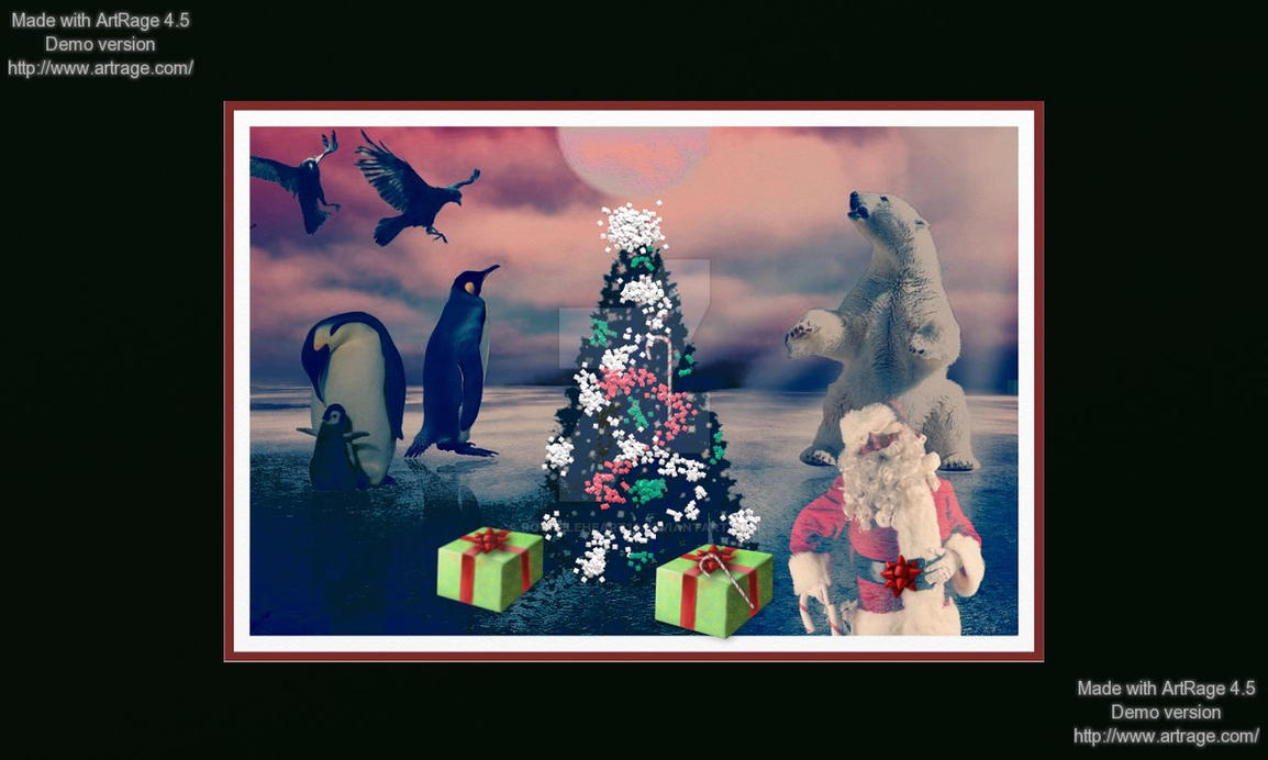 Animals  Xmas PartyCONTES by rochele10