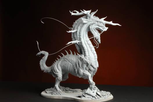 Unpainted Kirin Sculpture
