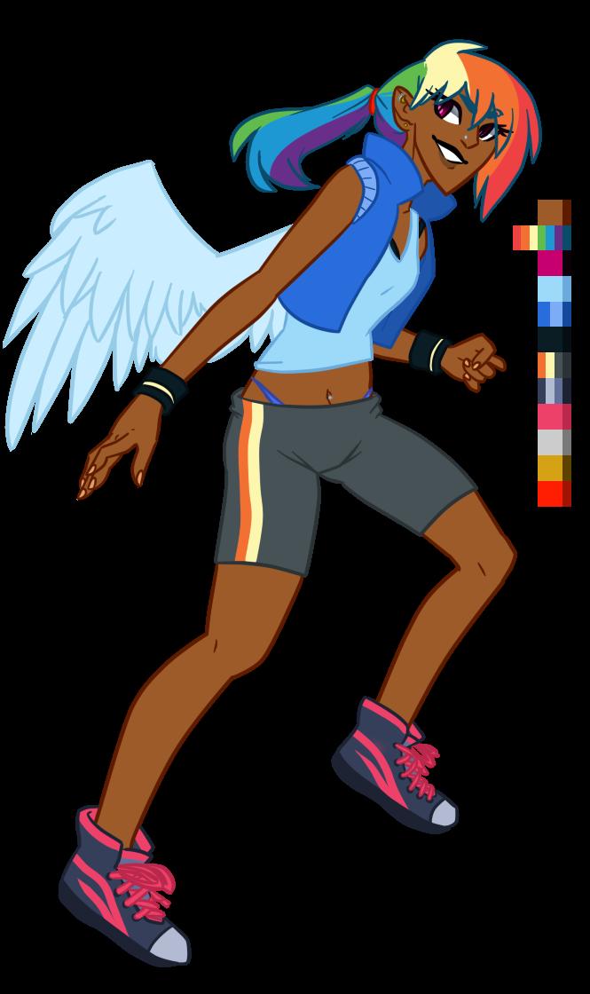 Hooman Rainbow Dash by AjueTheMod