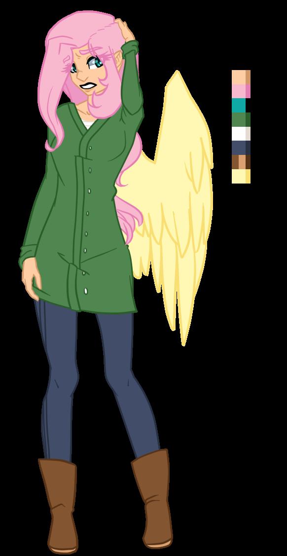 Hooman Fluttershy by AjueTheMod