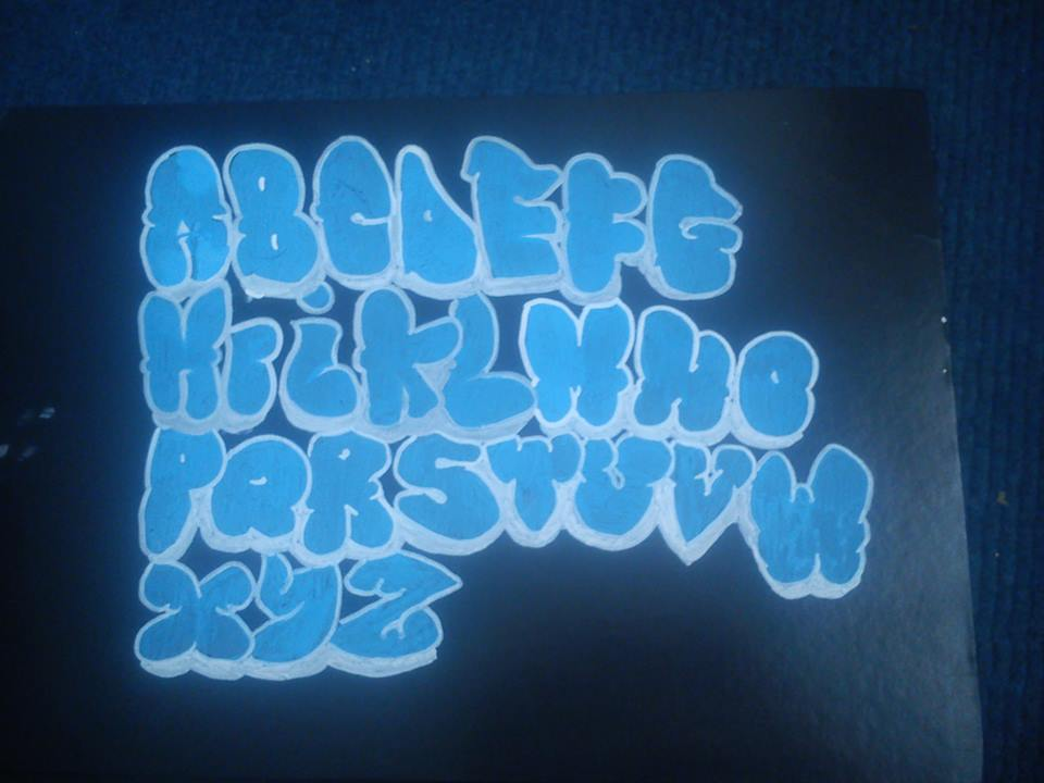 The gallery for --> Graffiti Throwie Alphabet