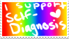 i support self diagnosis stamp by lobotomyhylics