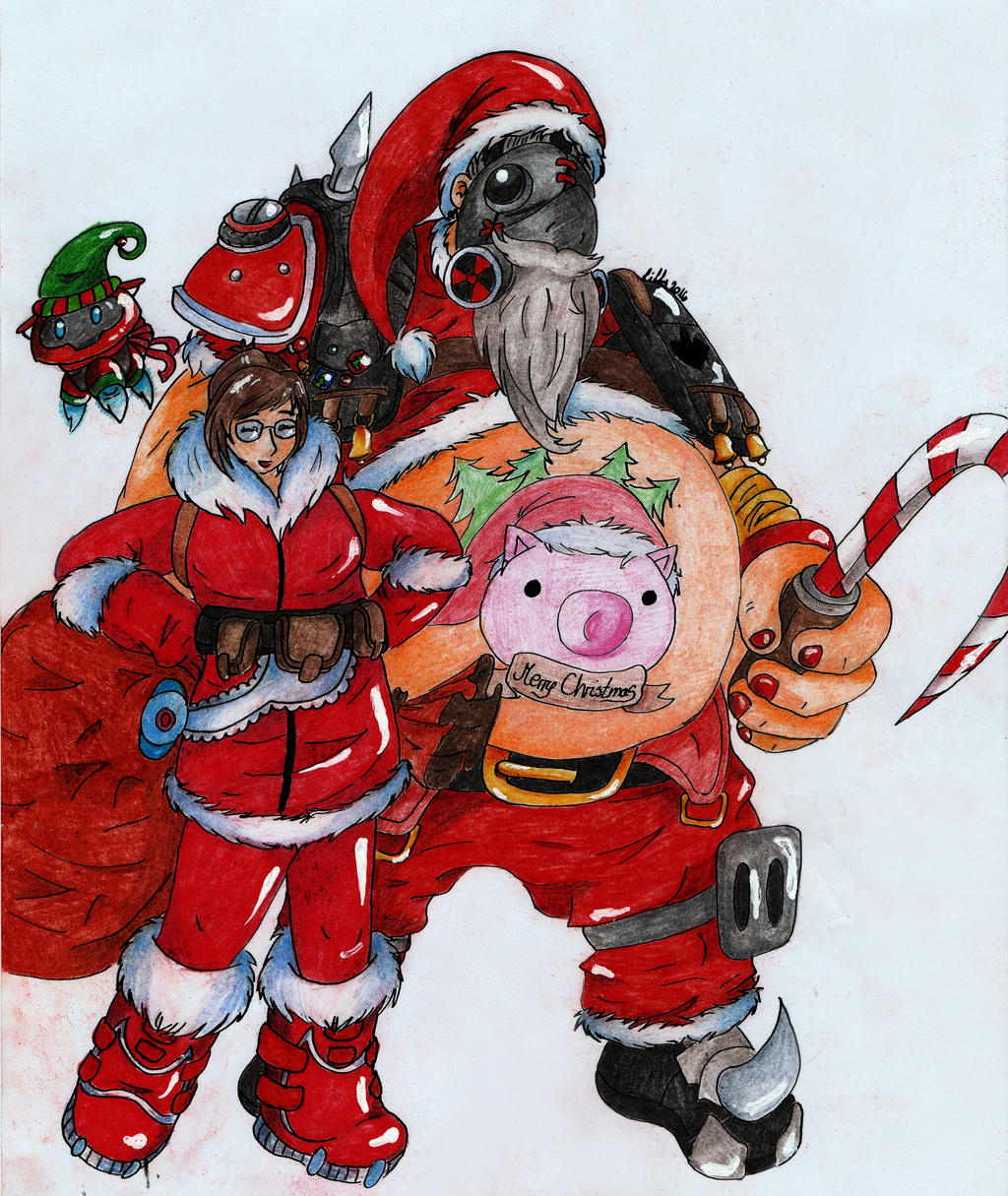 Roadhog and mei christmas overwatch by redglasseslilly - Overwatch christmas wallpaper ...