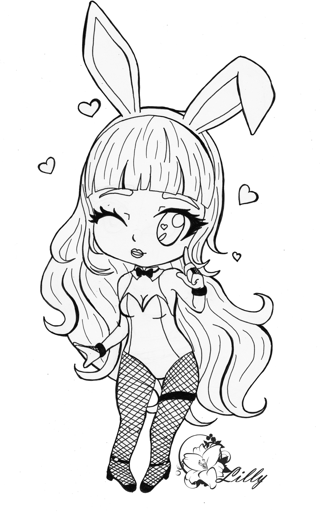 Lilly Playboy Bunny ~black and white ver~ by ...