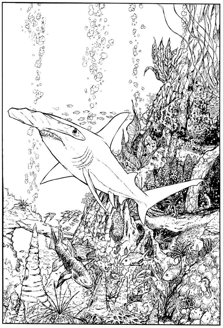 hammerhead shark by stvnhthr printable shark coloring page