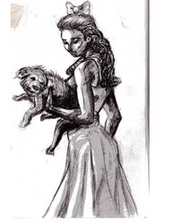 Dorothy and Toto sketch