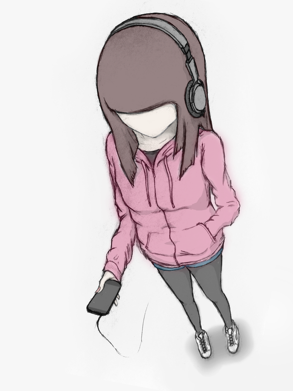 Hoodie and Headphones by bigsan89111