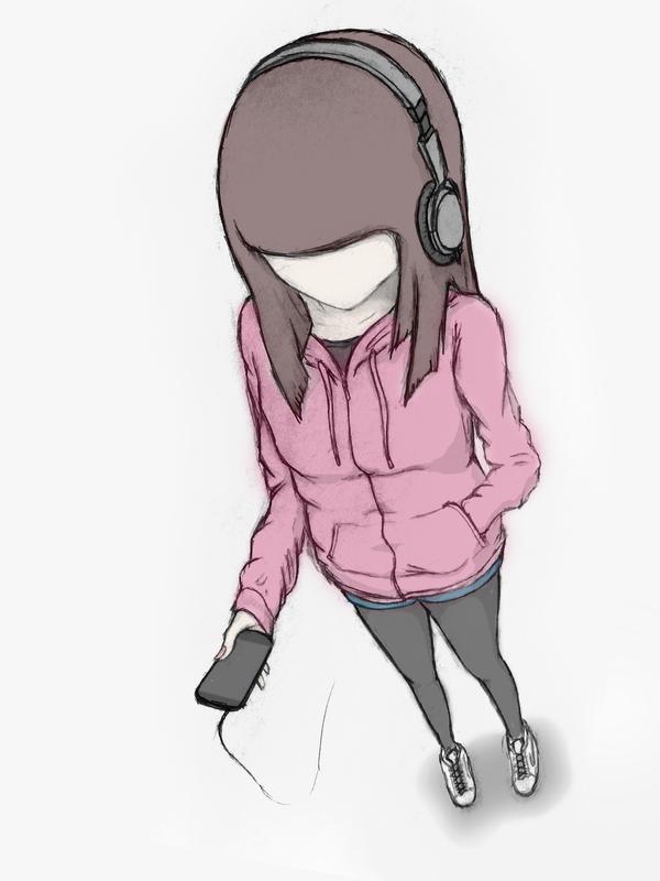 Hoodie and Headphones by bigsan89111