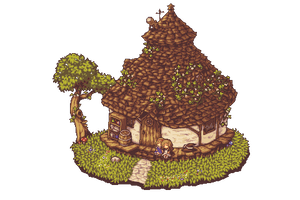 Witch cottage by noaqh