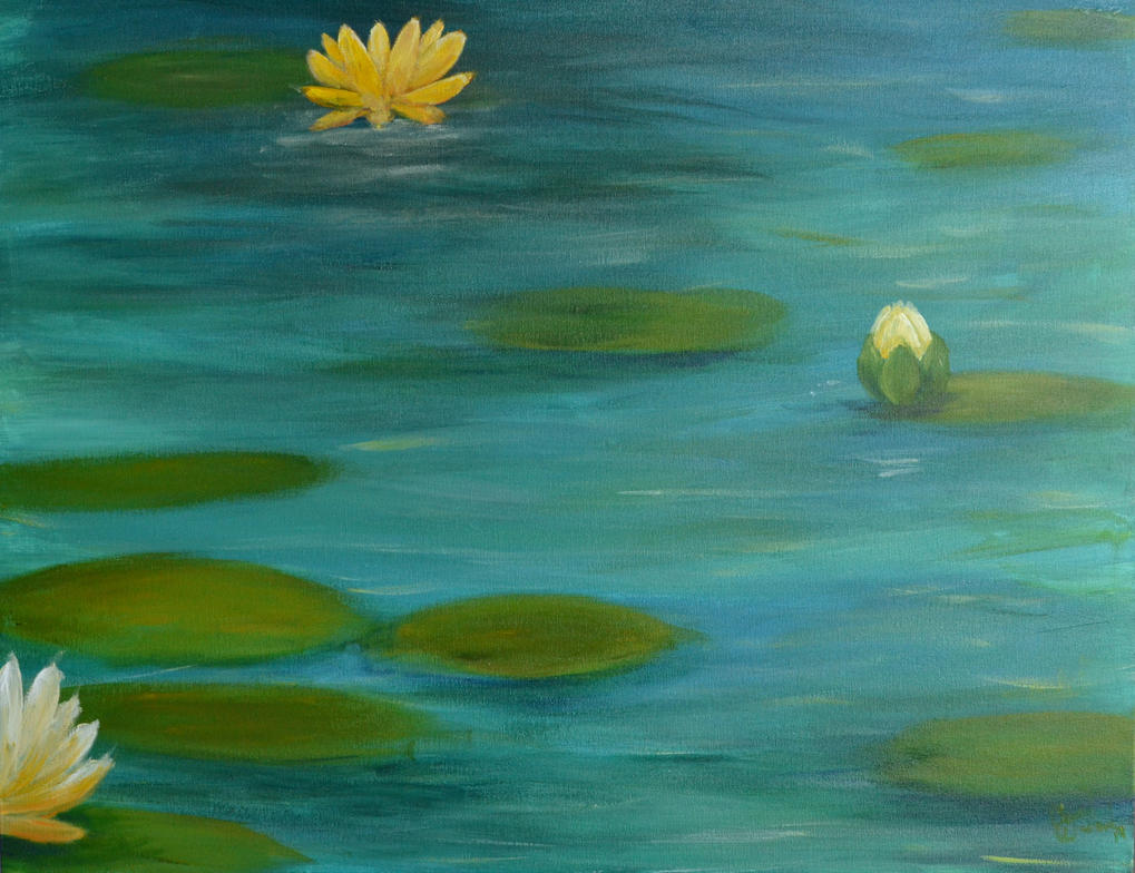 Water Lilies by GoldenDaffadowndilly