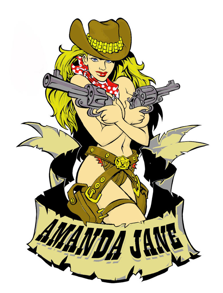 Cowgirl tattoo COLOURED by stoner101 on DeviantArt