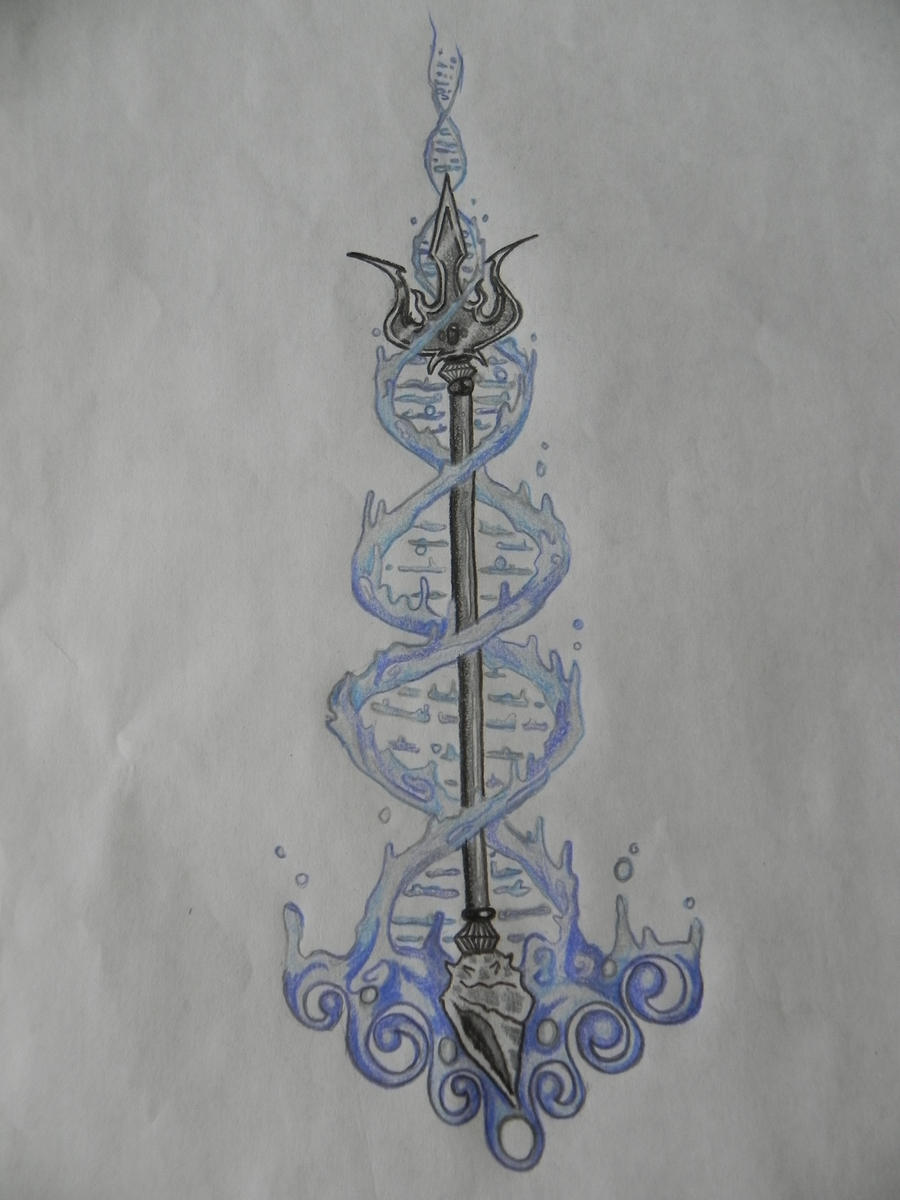 Poseidon Staff Tattoo: Trident Tattoo Design By Liz-on-ya On DeviantArt