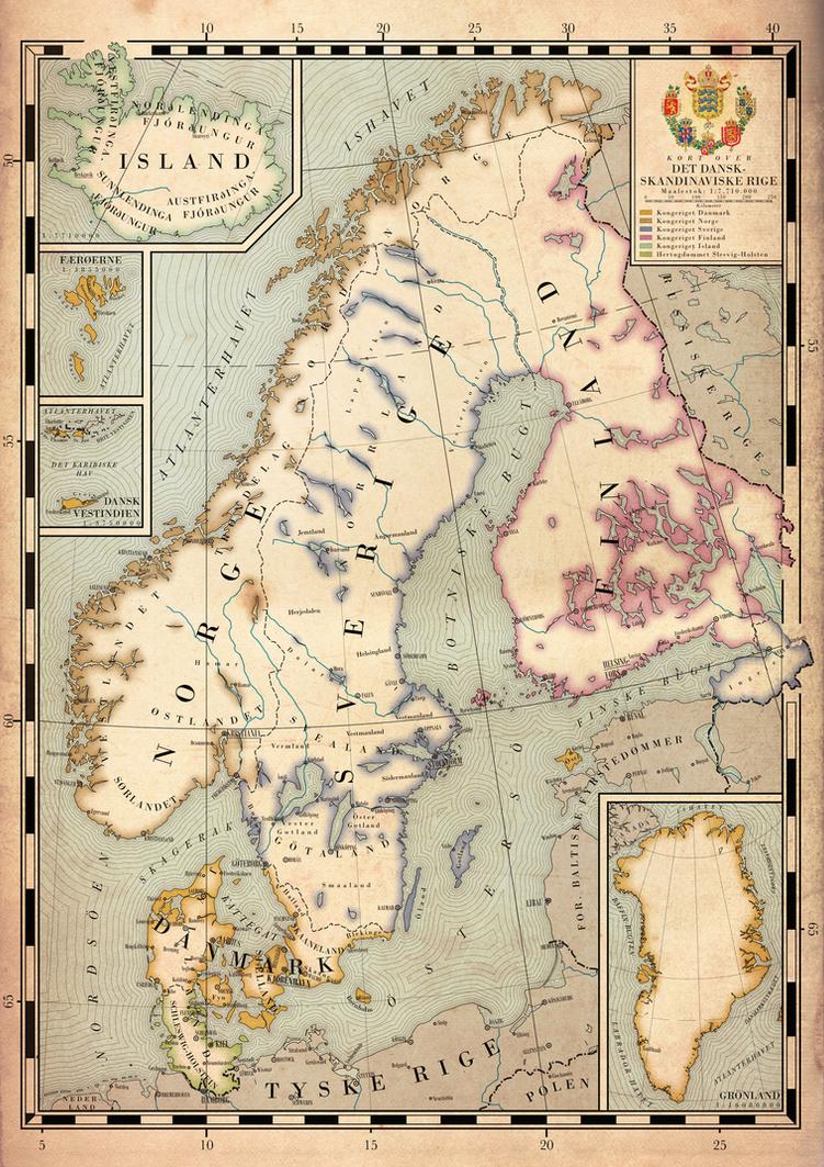 Map of the Scandinavian Empire by Regicollis