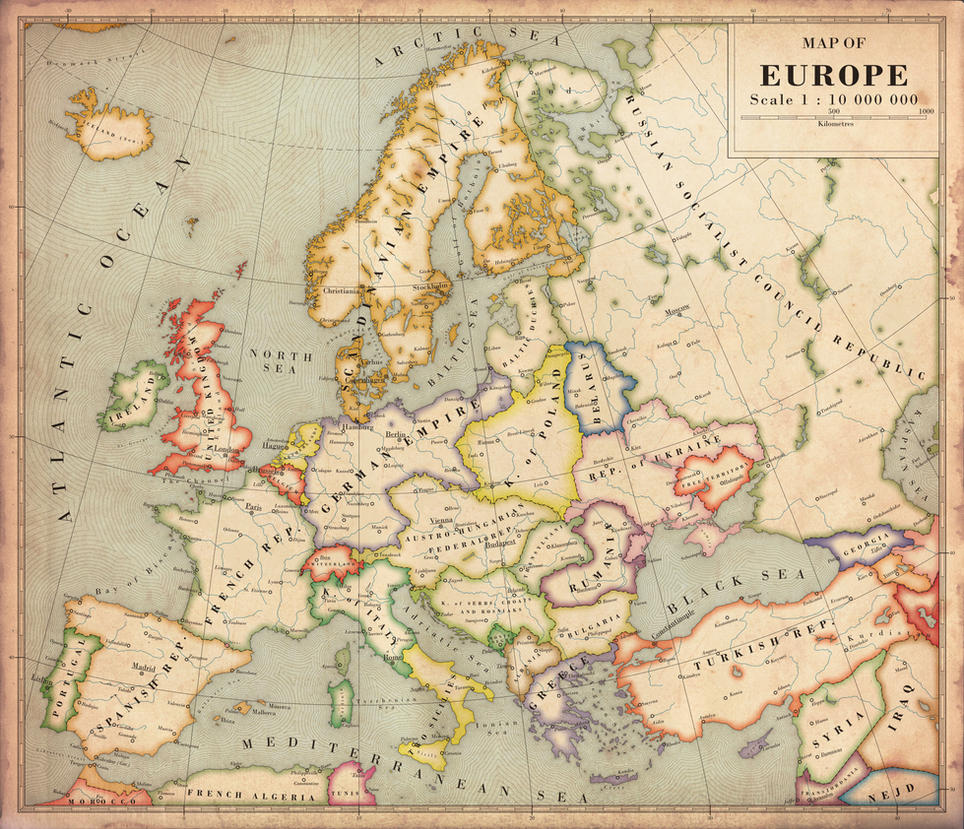 Alternate History Map of Europe by Regicollis