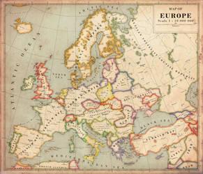 Alternate History Map of Europe v2 by Regicollis