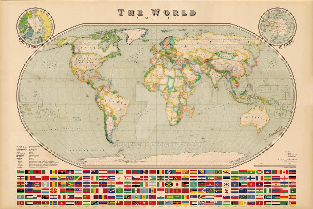 World map vintage style by regicollis on deviantart world map vintage style by regicollis gumiabroncs Gallery