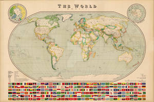 World Map - Vintage Style by Regicollis