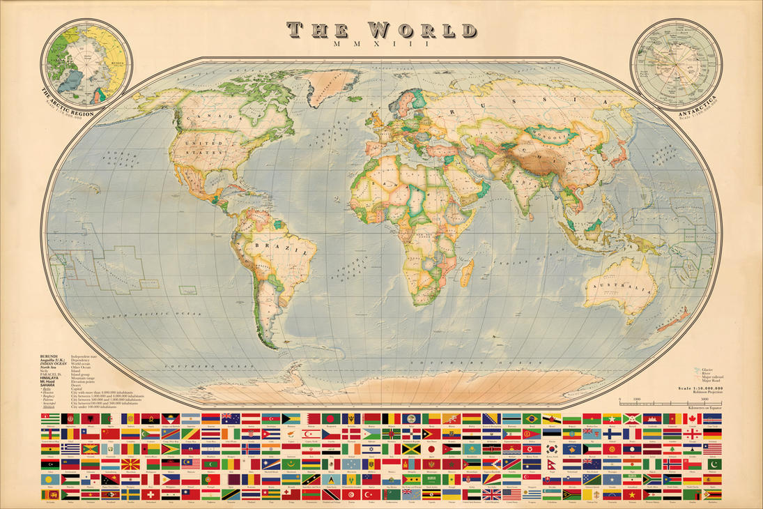 World map vintage style improved elevations by regicollis on world map vintage style improved elevations by regicollis gumiabroncs Gallery