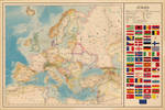 Map of Europe - Vintage poster