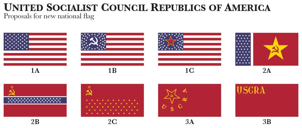 Flags of Communist America by Regicollis