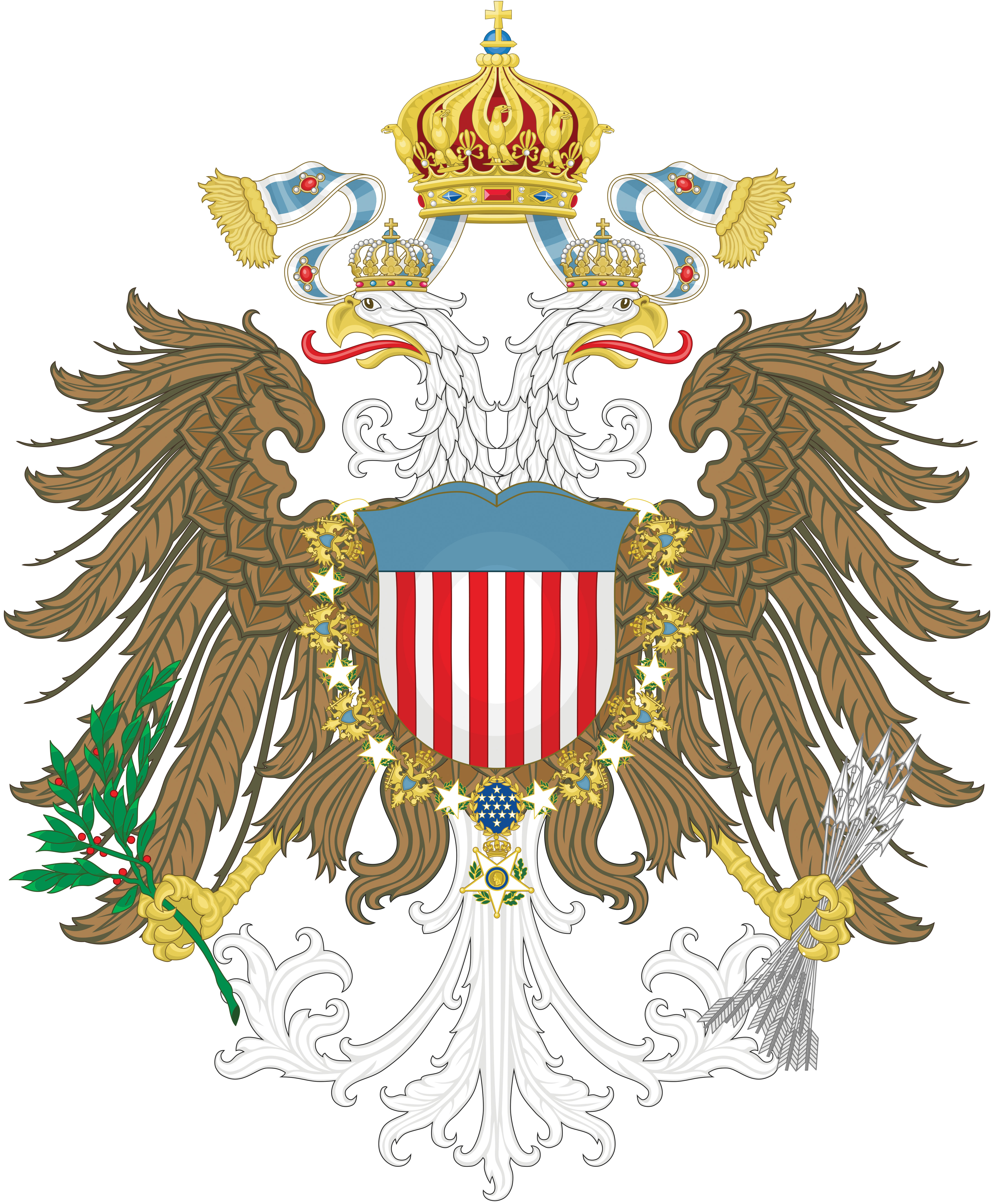 An American Monarchy - Coat of arms by Regicollis