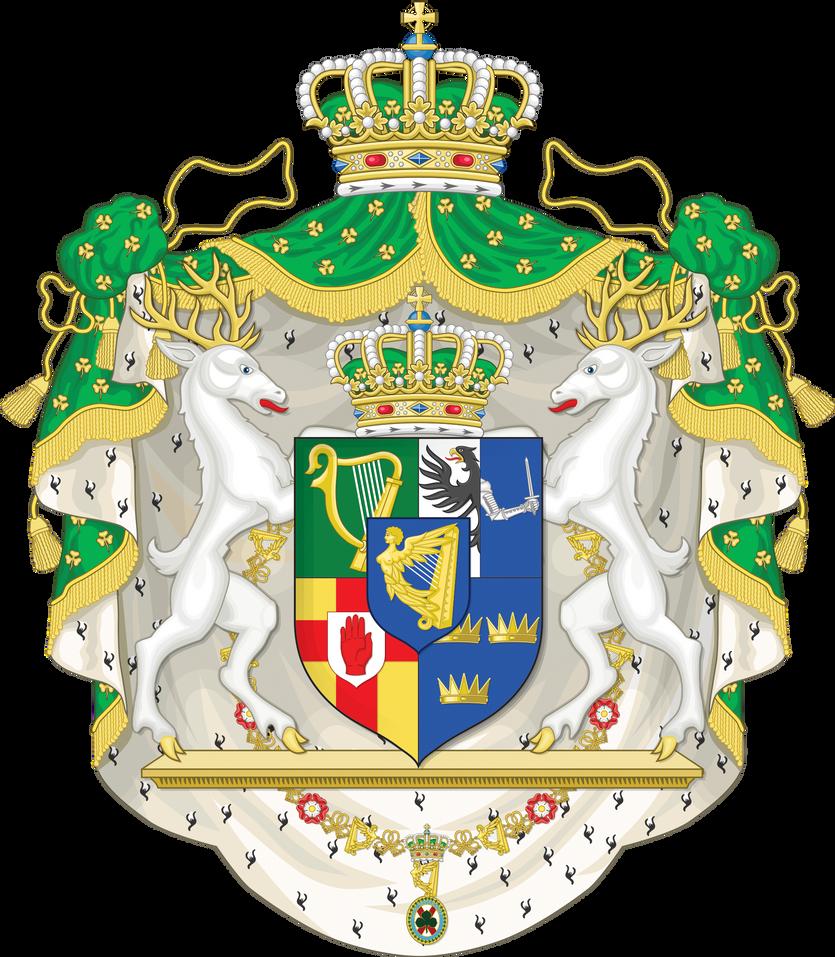 Kingdom of ireland coat of arms by regicollis on deviantart kingdom of ireland coat of arms by regicollis buycottarizona Images