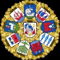 Coats of arms of the cities of Funen by Regicollis