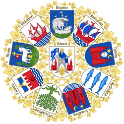 Coats of arms of the cities of Funen by Regicollis