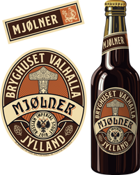 Beer Label - Mjolner - Russian Imperial Stout by Regicollis