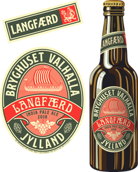 Beer Label - Langfaerd - India pale ale by Regicollis