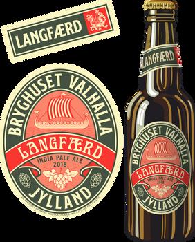 Beer Label - Langfaerd - India pale ale