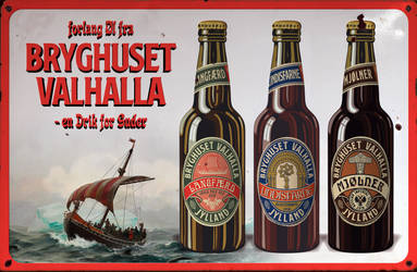 Beer advertisement sign - Valhalla by Regicollis