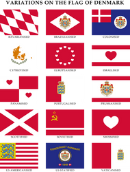 Alternative flags of Denmark by Regicollis