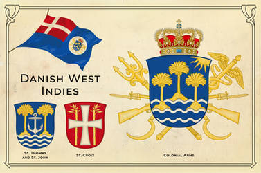 Alternate history arms of the Danish West Indies by Regicollis