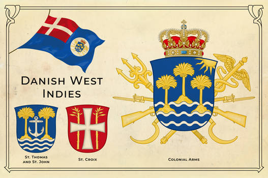 Alternate history arms of the Danish West Indies