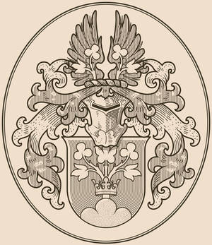 Personal coat of arms, hatched