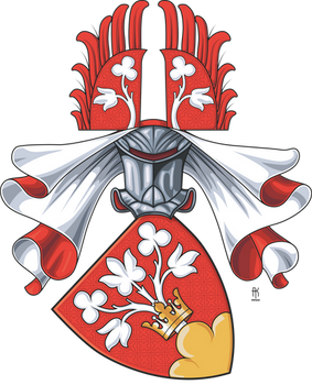 Personal coat of arms, gothic style