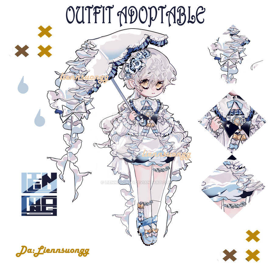 OUTFIT ADOPTABLE AUCTION: RAINY MUSHROOM! (OPEN)