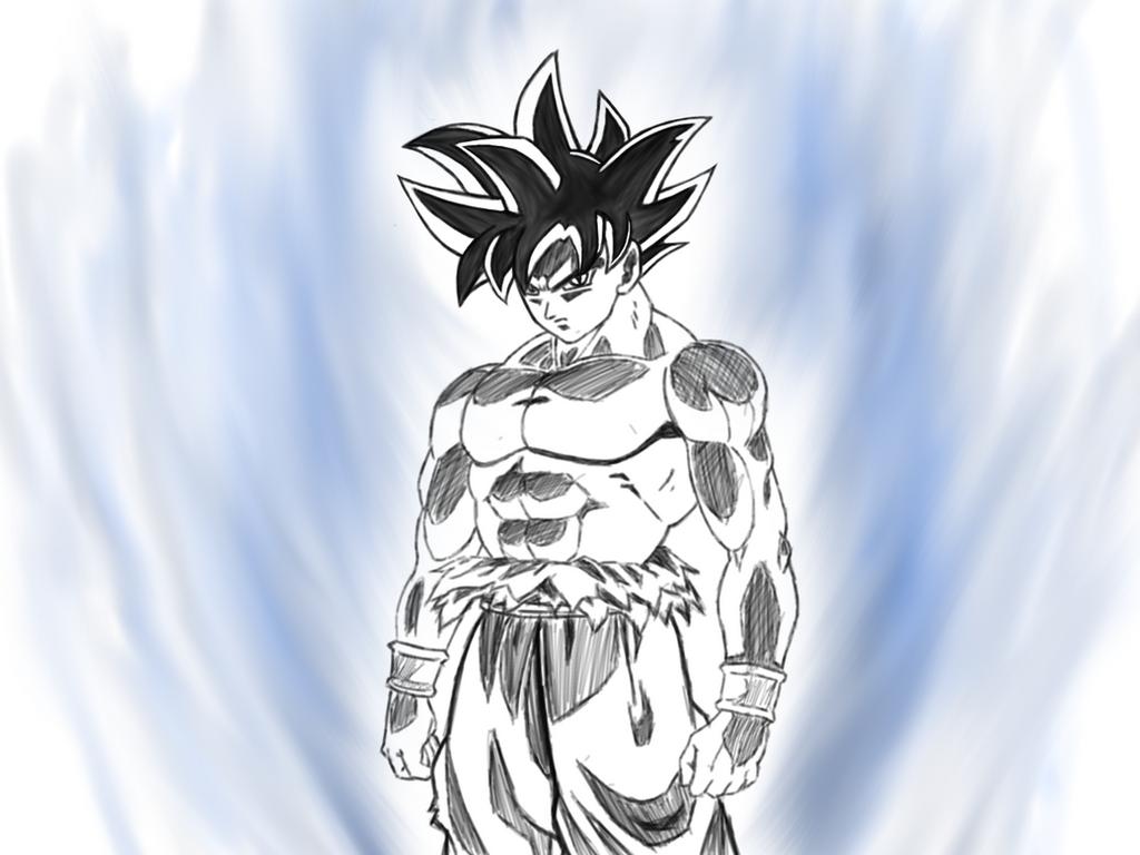 Ultra instinct goku by dazeart on deviantart - Goku ultra instinct sketch ...