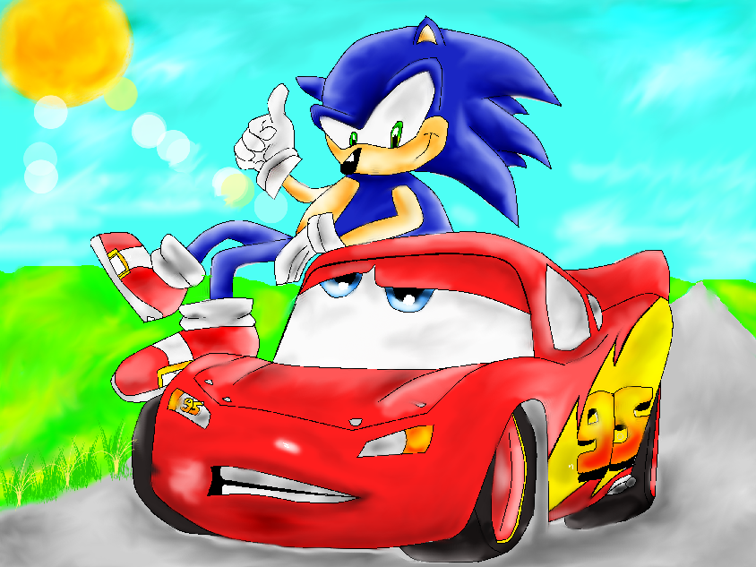 Sonic And Mcqueen By Ewela007 On Deviantart