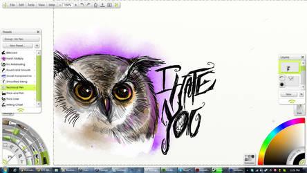 i hate you owl by Blade-dA