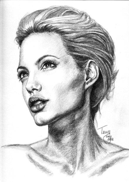 Drawing Lines With Swift : Angelina jolie by terryxart on deviantart