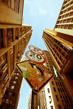 Street Sign Sao Paulo